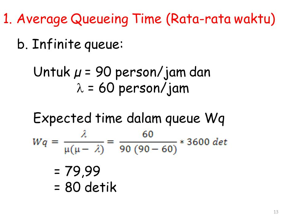 1. Average Queueing Time (Rata-rata waktu)