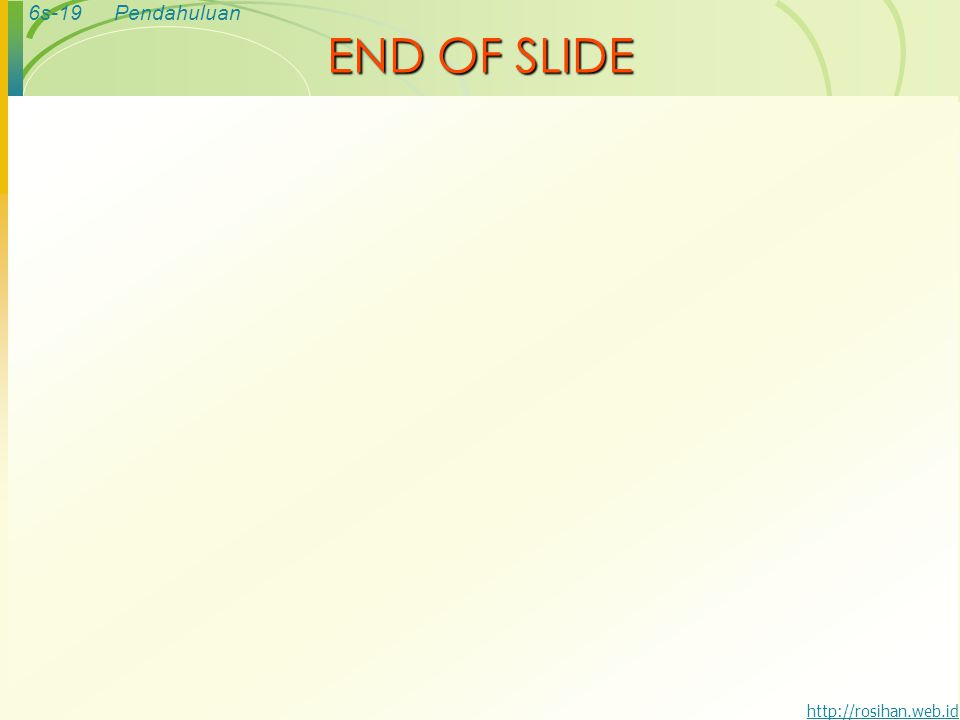 END OF SLIDE