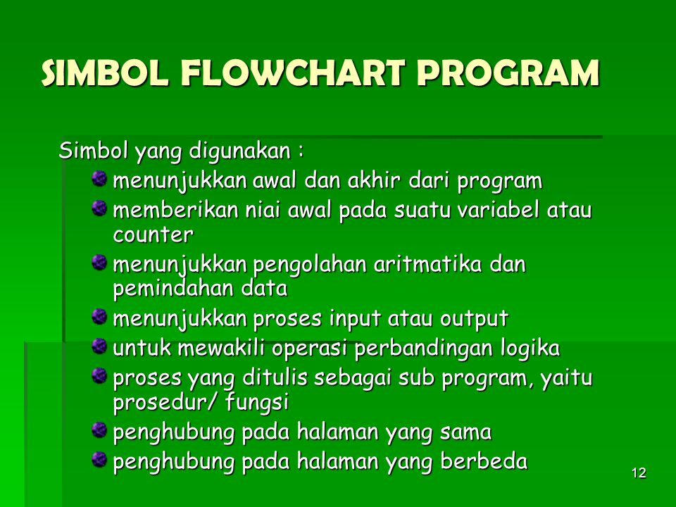 SIMBOL FLOWCHART PROGRAM