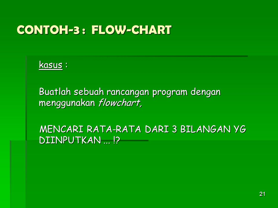 CONTOH-3 : FLOW-CHART kasus :