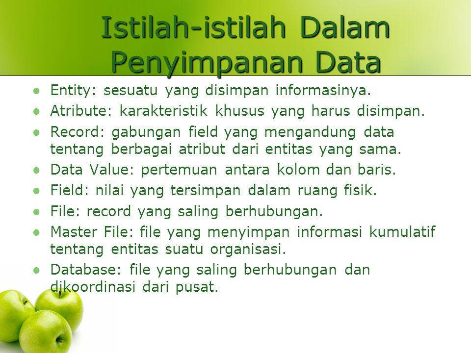 Istilah-istilah Dalam Penyimpanan Data
