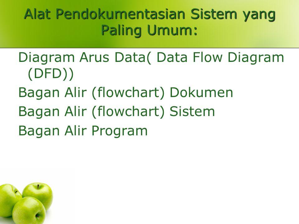 Alat Pendokumentasian Sistem yang Paling Umum: