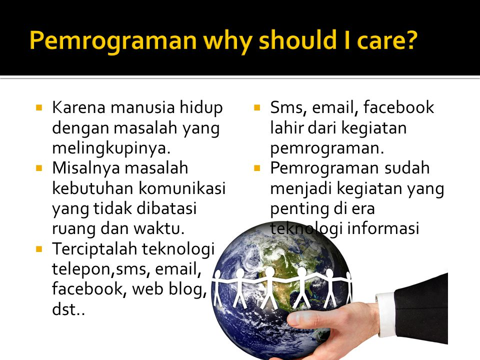 Pemrograman why should I care