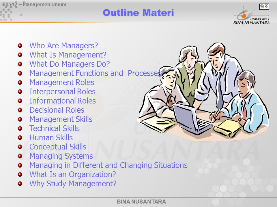 Outline Materi Who Are Managers What Is Management