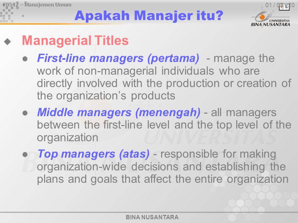 Apakah Manajer itu Managerial Titles