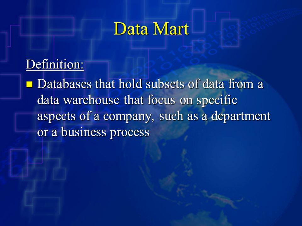 Data Mart Definition: