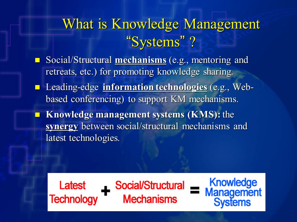 What is Knowledge Management Systems