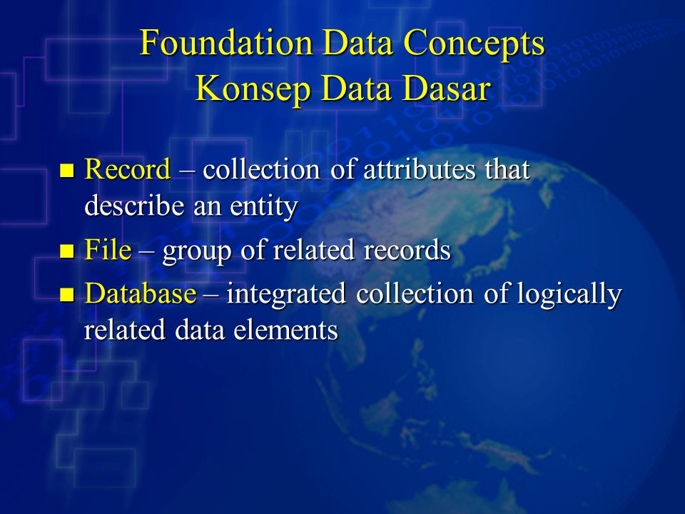 Foundation Data Concepts Konsep Data Dasar