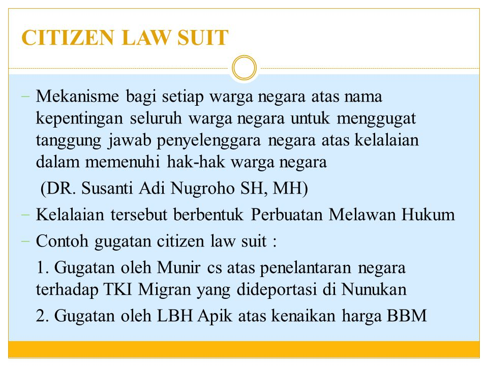 CITIZEN LAW SUIT