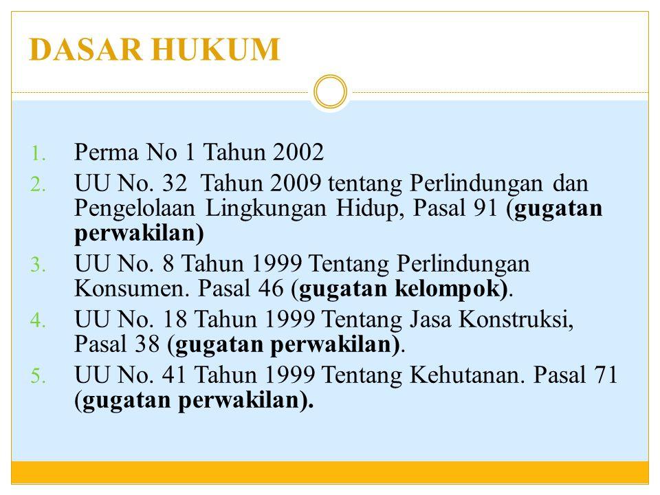 DASAR HUKUM Perma No 1 Tahun 2002