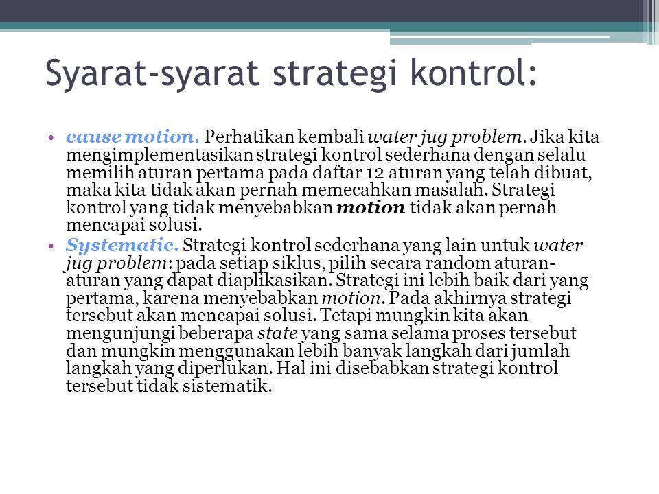 Syarat-syarat strategi kontrol: