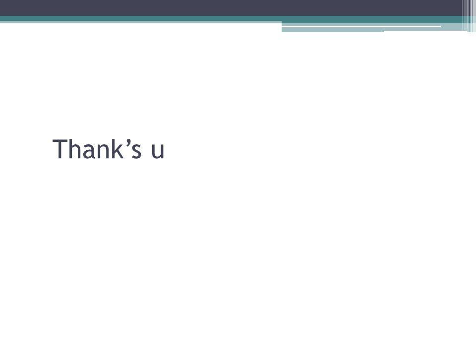 Thank's u