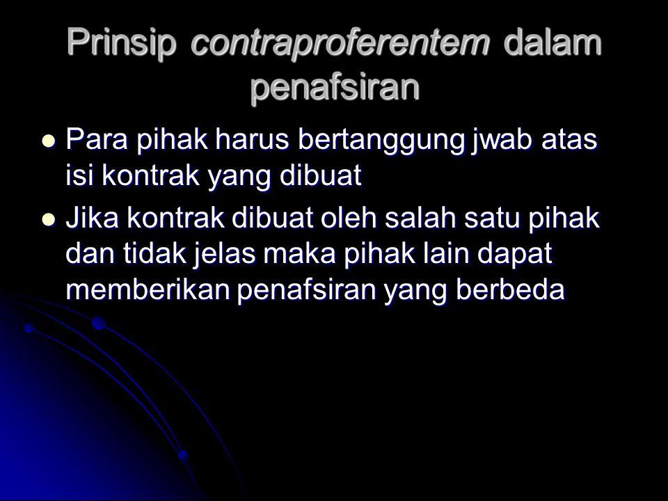 Prinsip contraproferentem dalam penafsiran
