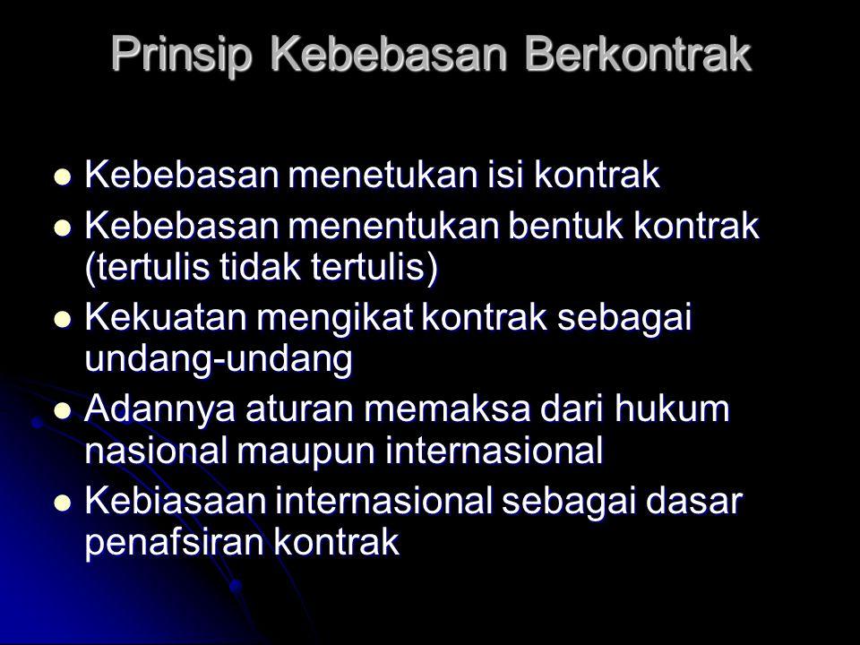 Prinsip Kebebasan Berkontrak
