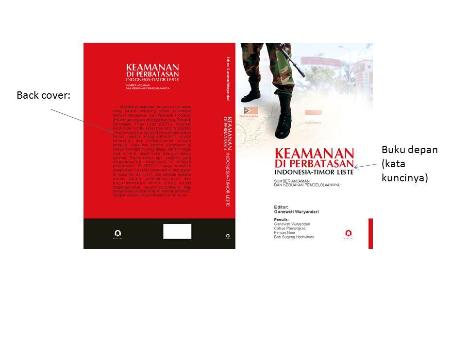 Back cover: Buku depan (kata kuncinya)