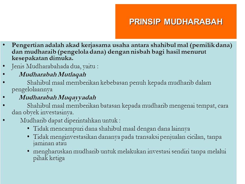 PRINSIP MUDHARABAH