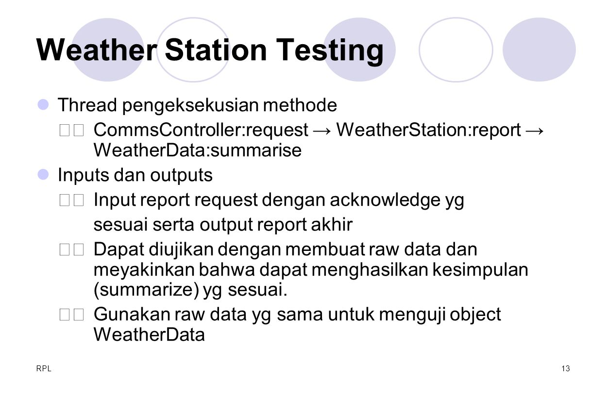 Weather Station Testing