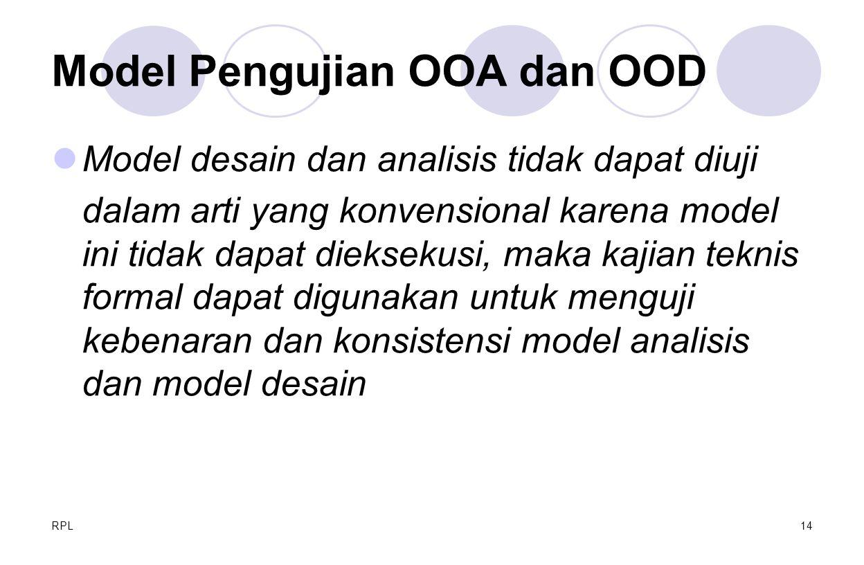 Model Pengujian OOA dan OOD