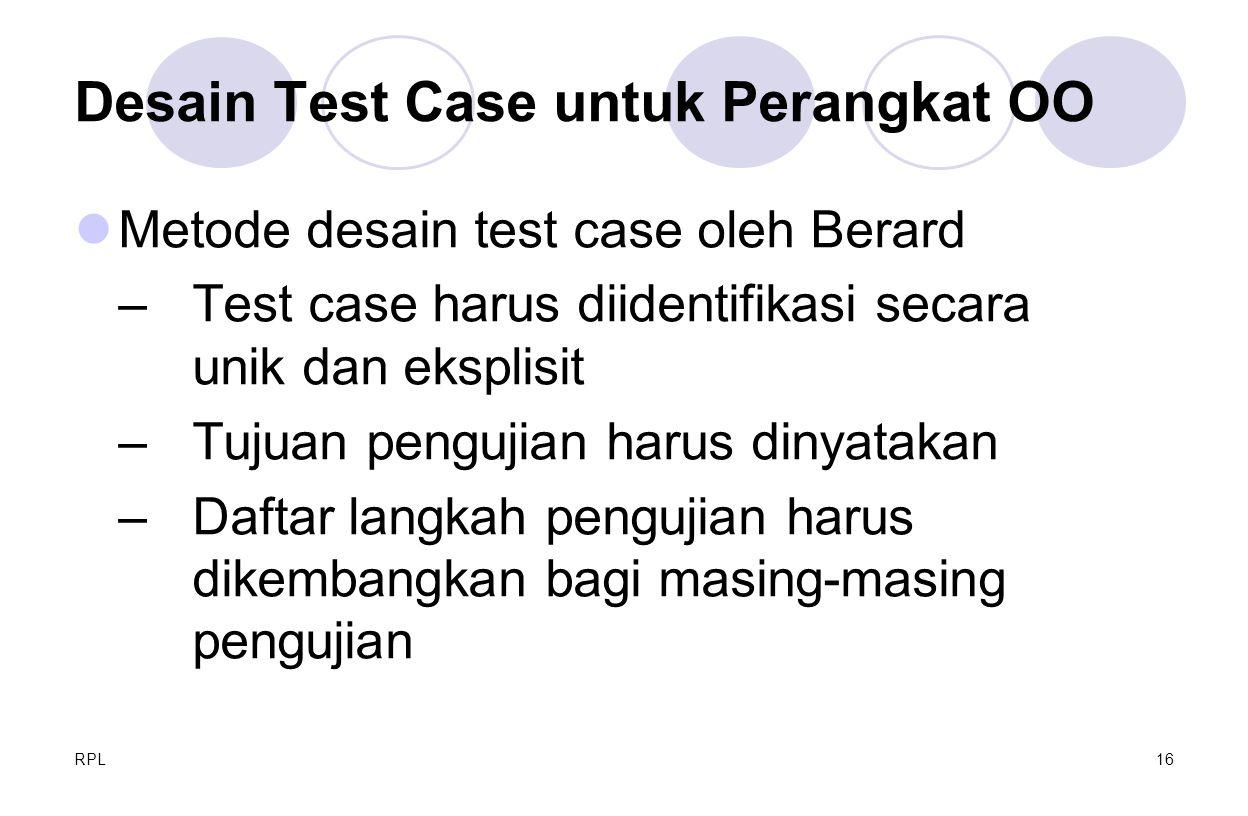 Desain Test Case untuk Perangkat OO