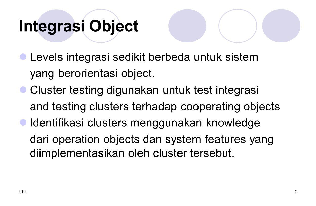 Integrasi Object Levels integrasi sedikit berbeda untuk sistem