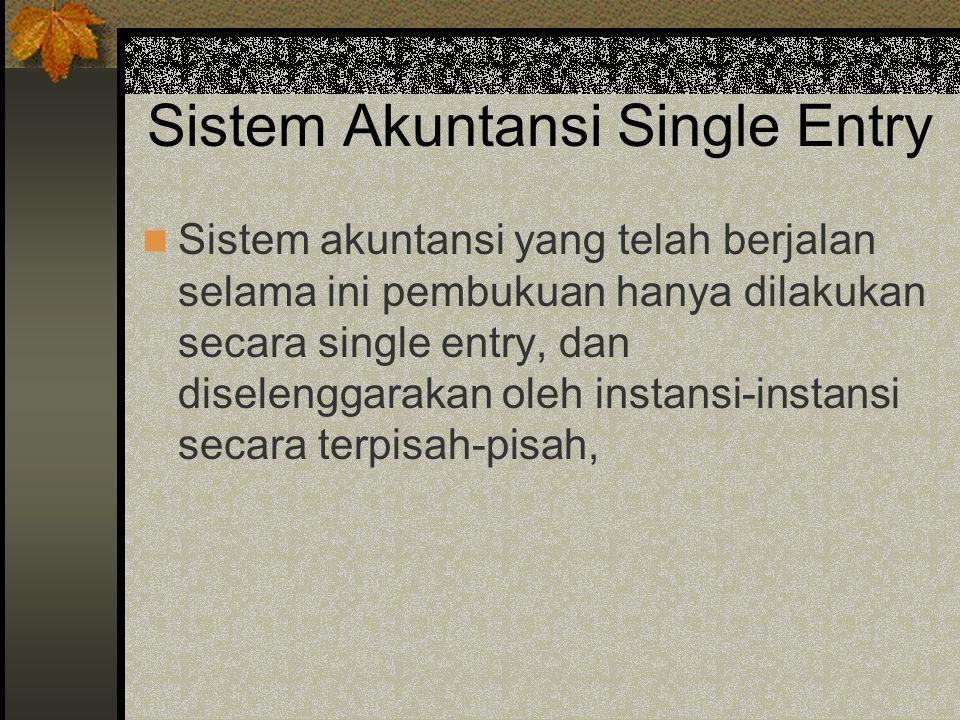 Sistem Akuntansi Single Entry