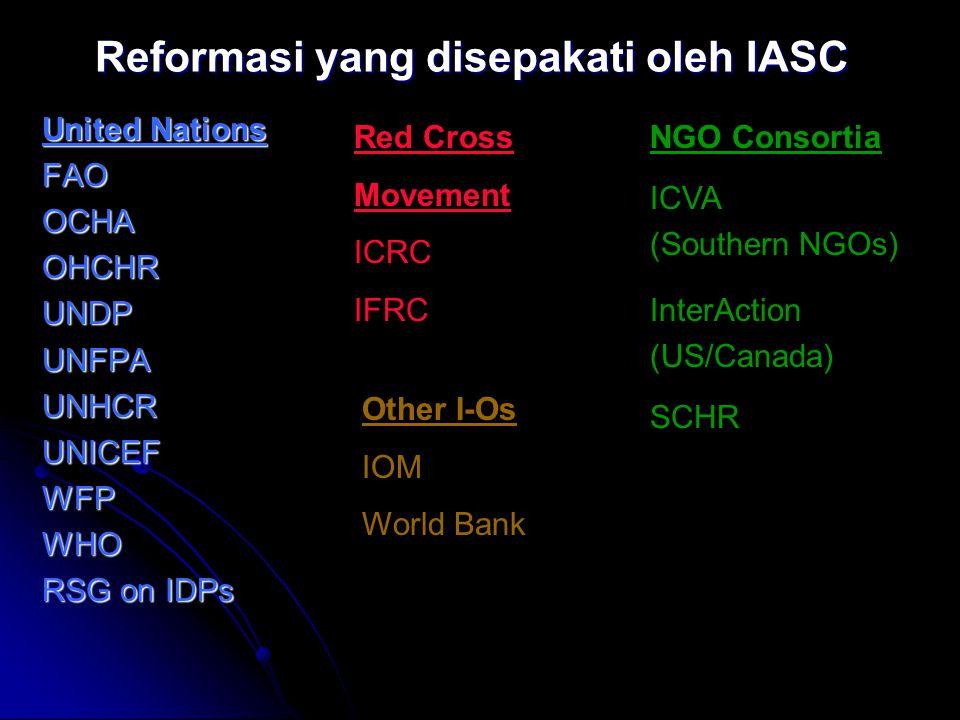 Reformasi yang disepakati oleh IASC