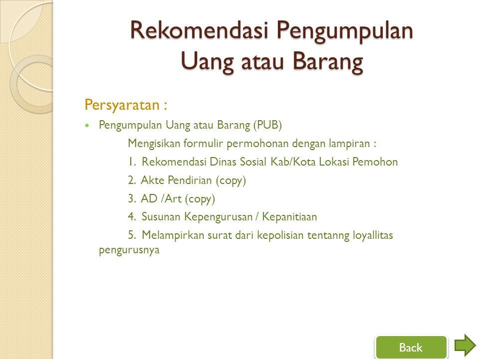 Rekomendasi Pengumpulan Uang atau Barang