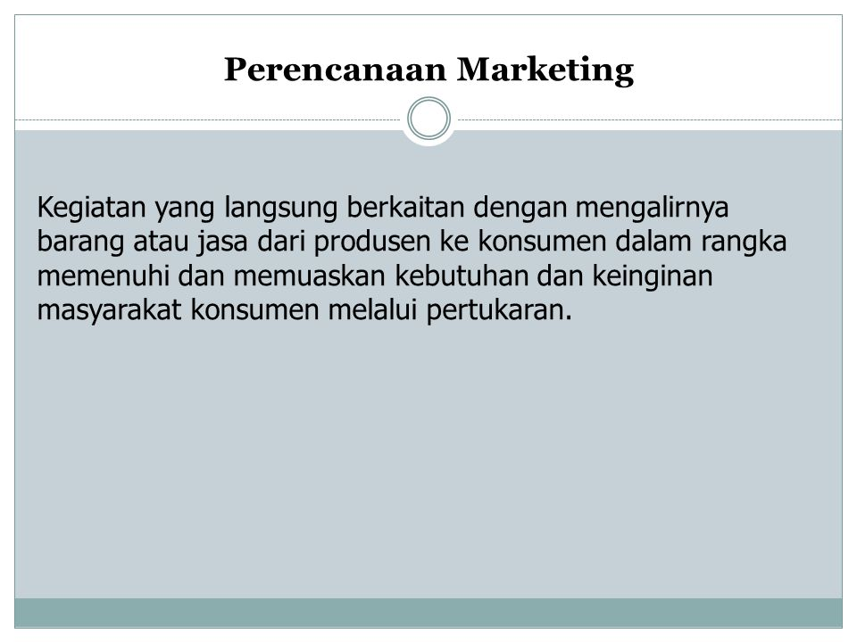 Perencanaan Marketing