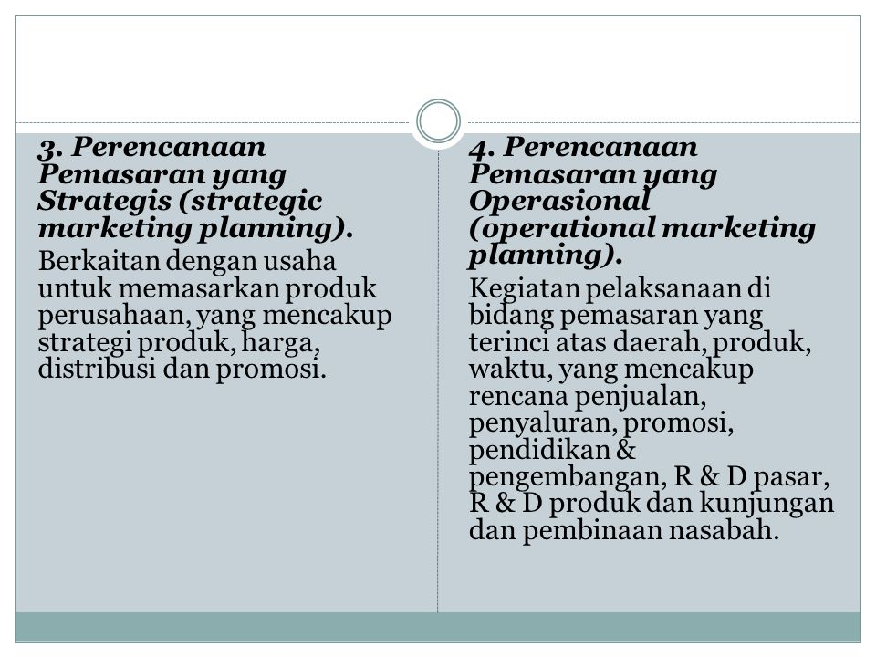 3. Perencanaan Pemasaran yang Strategis (strategic marketing planning)