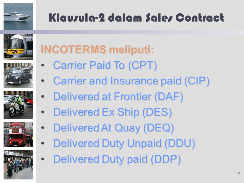 Klausula-2 dalam Sales Contract