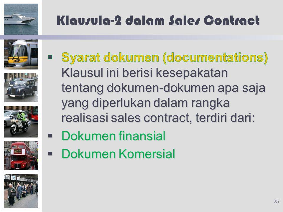 Klausula-2 dalam Sales Contract