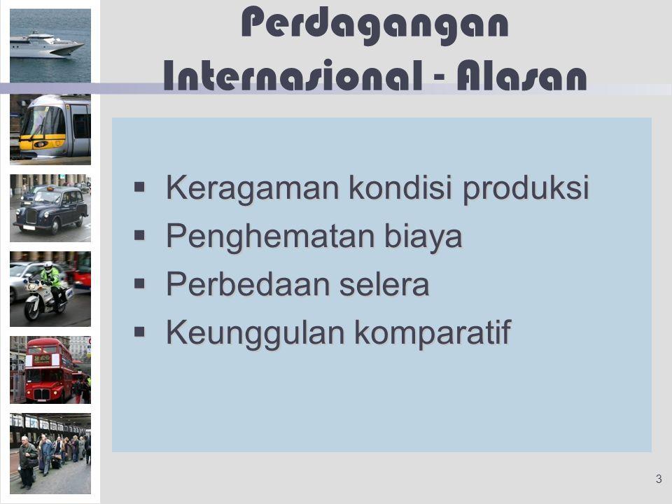 Perdagangan Internasional - Alasan
