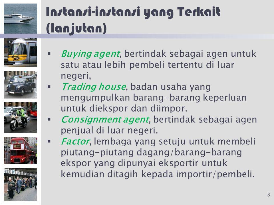 Instansi-instansi yang Terkait (lanjutan)