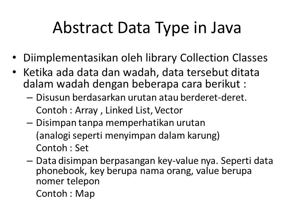 Abstract Data Type in Java