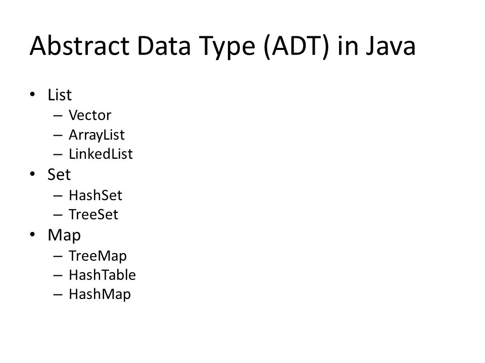 Abstract Data Type (ADT) in Java