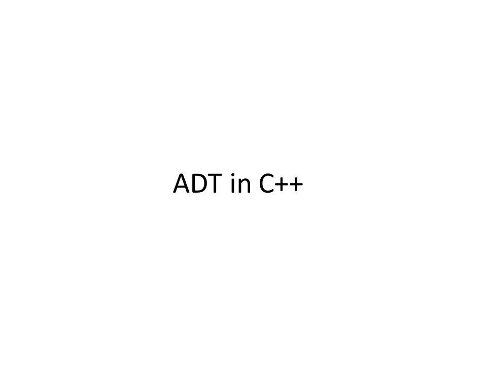ADT in C++