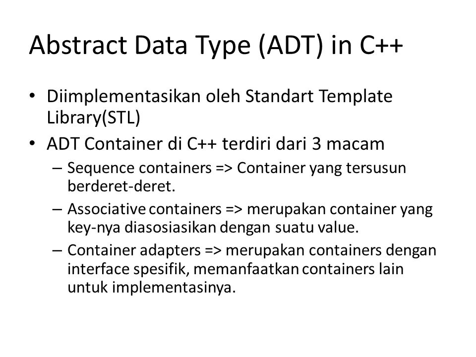 Abstract Data Type (ADT) in C++
