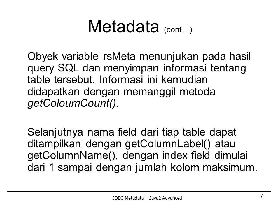 Metadata (cont…)