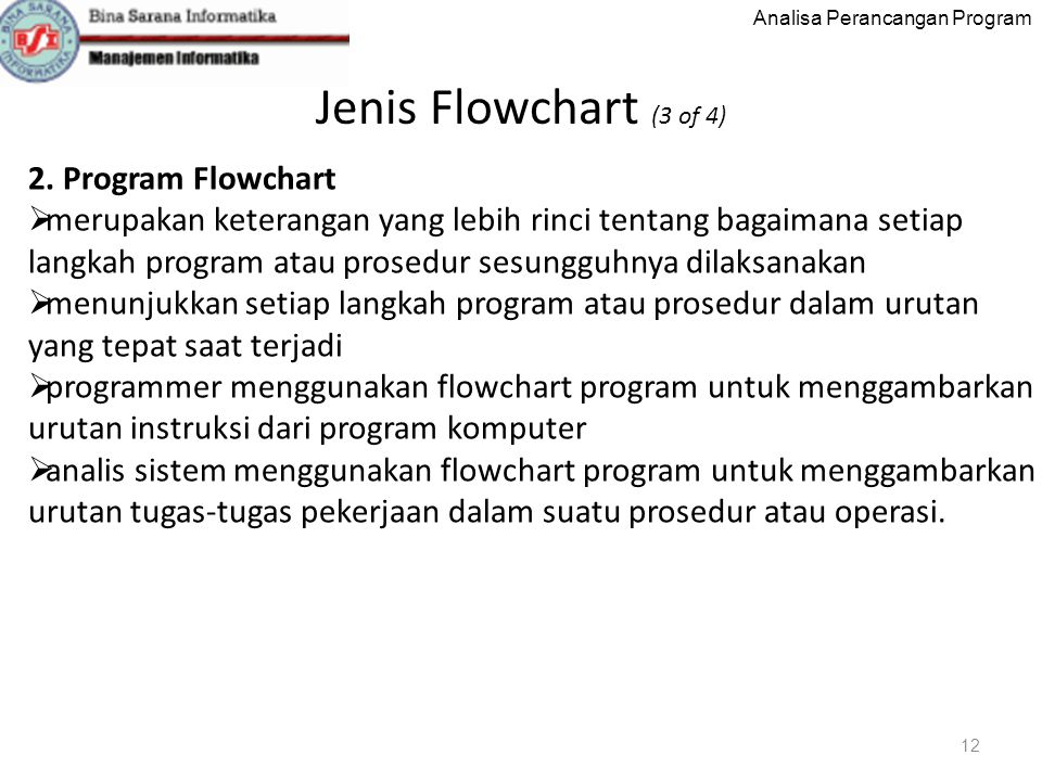Jenis Flowchart (3 of 4) 2. Program Flowchart