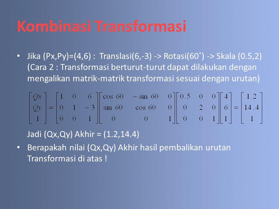 Kombinasi Transformasi