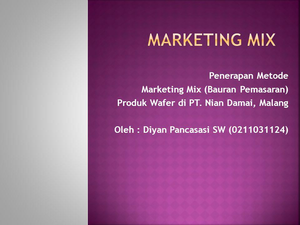 Marketing Mix Penerapan Metode Marketing Mix (Bauran Pemasaran)