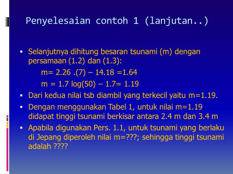Penyelesaian contoh 1 (lanjutan..)