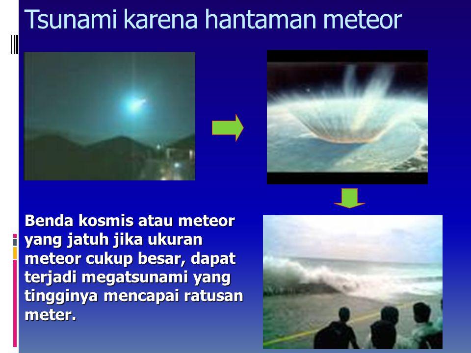 Tsunami karena hantaman meteor