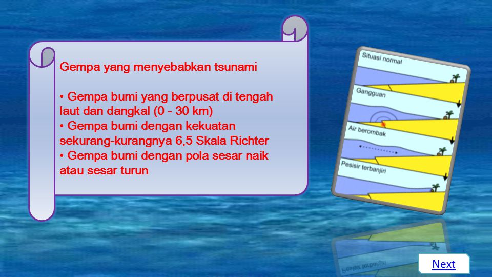 Gempa yang menyebabkan tsunami