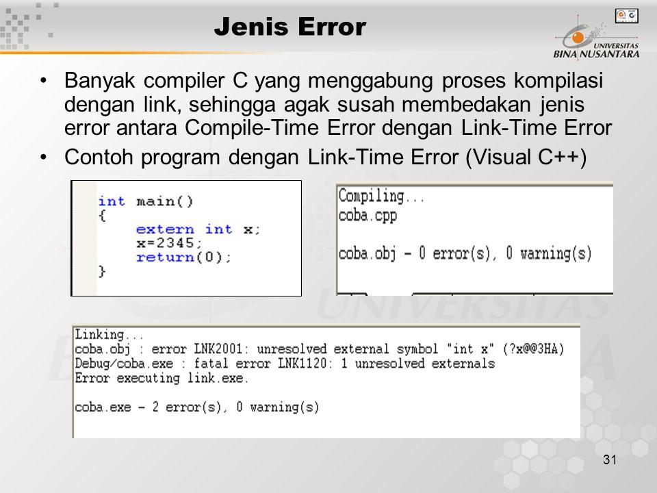 Jenis Error