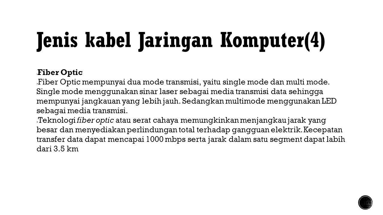 Jenis kabel Jaringan Komputer(4)