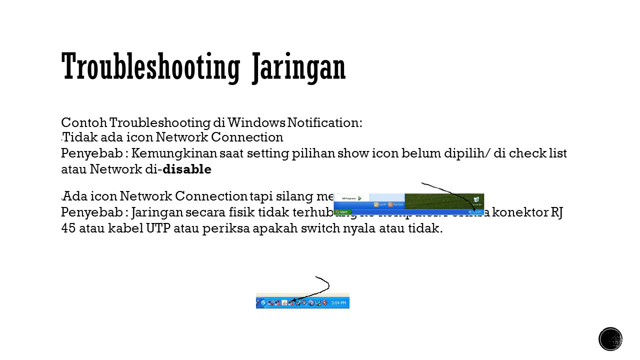 Troubleshooting Jaringan