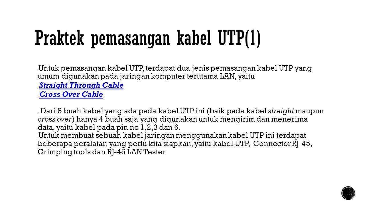 Praktek pemasangan kabel UTP(1)