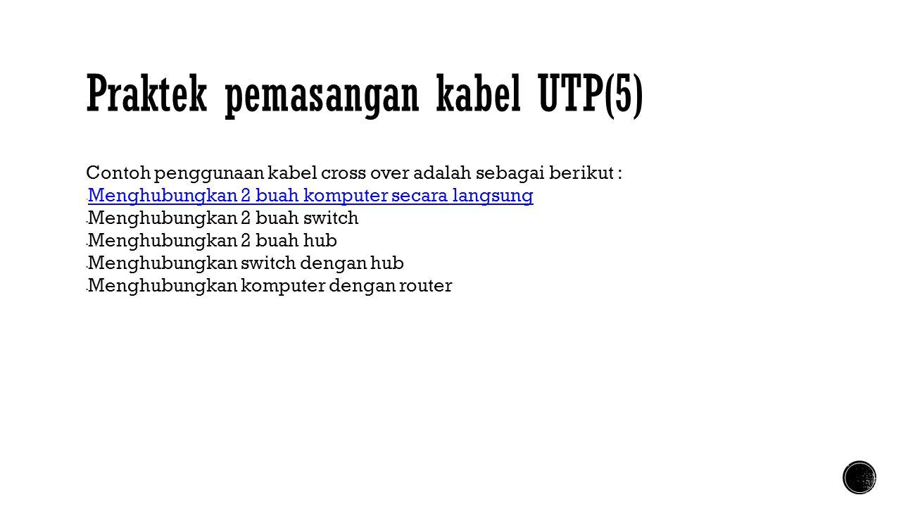 Praktek pemasangan kabel UTP(5)