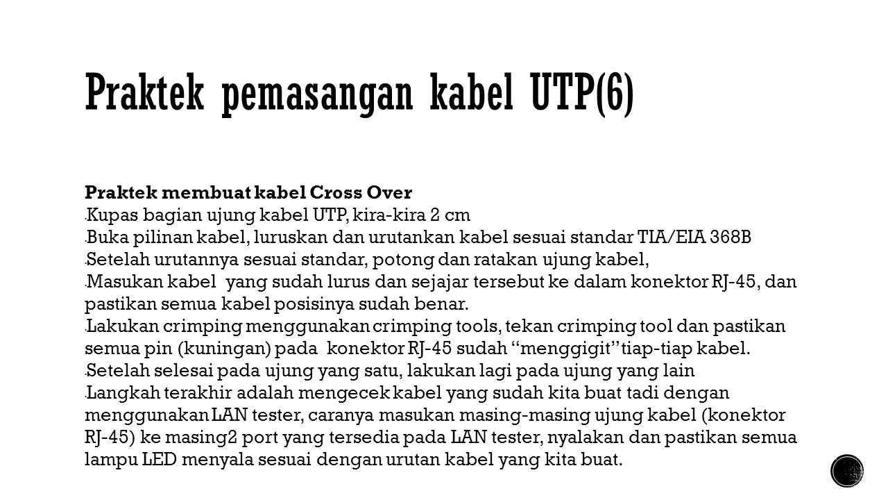 Praktek pemasangan kabel UTP(6)